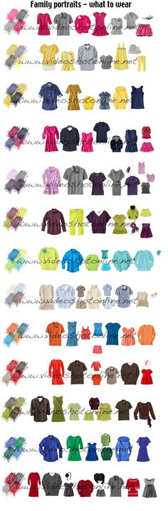 I have recently found myself trying to plan a lot of picture outfits and wardrobes. I hate when everything is very matchy-matching, and finally heard the perfect way to explain it a. Family pics, family pictures, family photography tips Family Picture Colors, Family Picture Outfits, Family Photo Clothing, Colors For Family Pictures, Photo Shoot Outfits, Extended Family Pictures, Family Pictures What To Wear, Family Pics, Family Portraits What To Wear