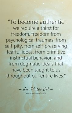 How to be authentic ... (hint: it's all to do with craving freedom)