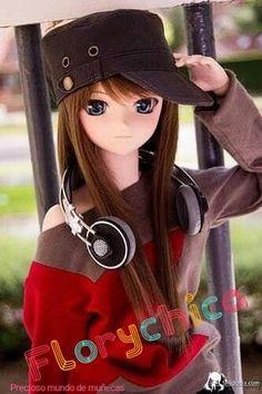 she is totally me ; Beautiful Barbie Dolls, Pretty Dolls, Anime Dolls, Bjd Dolls, Barbie Images, Kawaii Doll, Kawaii Anime, Enchanted Doll, Cute Cartoon Girl