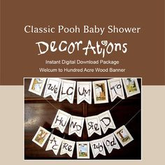 Classic Winnie the Pooh Baby Shower by LaArtistaSamantha on Etsy