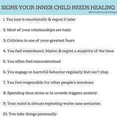 We all have childhood stuff we've not unpacked. A lot of people think this means you didn't have a good childhood, or had 'bad' parents. Mental And Emotional Health, Emotional Healing, Mental Health Awareness, Trauma, Ptsd, Codependency Recovery, Inner Child Healing, Healing Hands, Emotional Intelligence
