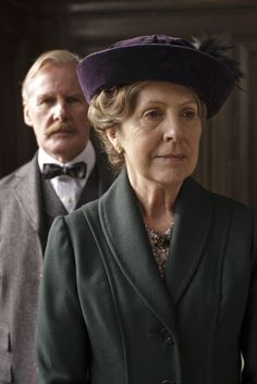♣~ Dr. Clarkson and Isobel Crawley ~♣~ | More Downton Abbey photos here:  http://mylusciouslife.com/historical-style-downton-abbey-photos/ ~♣