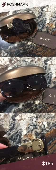 Gucci Sunglasses Gucci sunglasses. Never worn. Authentic. The case is a bit scratched just from sitting in a drawer but glasses are in perfect condition. Price is firm Gucci Accessories Sunglasses