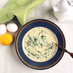 Looking for a nice cold remedy? Traditional Egg Lemon Soup is a quick & tasty alternative to chicken soup--even healthier with julienned spinach.