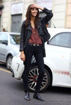 Jacket:Black Leather Jacket over Vintage Red Print ShirtJeans:Black DenimShoes:Black BootsPhoto By:Phil Oh