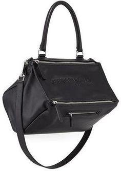 Shop Now - >  https://api.shopstyle.com/action/apiVisitRetailer?id=522373830&pid=uid6996-25233114-59 Givenchy Pandora Medium Debossed Leather Satchel Bag, Black  ...