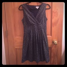 Navy polka dot dress Size small navy dead with white polka dots. Worn once! ✨ Dresses