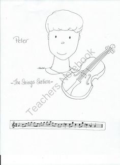 peter the wolf coloring pages with music themes from miss barkers musical materials on teachersnotebook