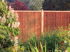 A natural willow screen offer a natural backdrop in your garden...