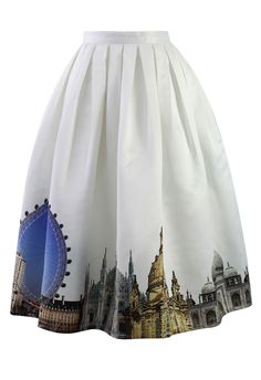 Not sure if I would wear this but I really want it. Scenic Print Midi Skirt - sale - Retro, Indie and Unique Fashion