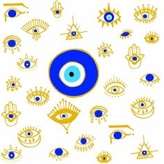 Evil Eye Comforters by Ivette Mancilla - Queen: x Clay Art Projects, Evil Eye Art, Art Painting, Eyes Wallpaper, Painting, Illustration Art, Intuitive Art, Art, Evil