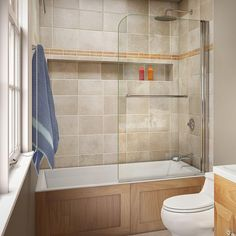 DreamLine Aqua Swing 34 In. X 58 In. Semi Framed Hinge Tub Door