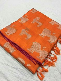 Ready to dispach  Kanchi tissue sarees with silk mart Price:10500 Order what's app 7995736811
