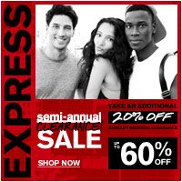 Express Semi-Annual Sale – Save up to 60% Off + Take an Additional 20% Off Already Reduced Clearance
