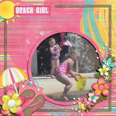 Kit Katie Creates En La Playa Template: Lissykay Designs Beach Trip Vol. 1