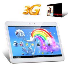 10.1 pollici IPS 3G Tablet PC - MTK8382 Quad Core CPU, 1GB di RAM, Android 4.2 OS, 2x slot per schede SIM (bianco)10.1 pollici IPS Tablet PC 3G dispone di una CPU MTK8382 Quad Core, 1GB di RAM, Android 4.2 OS, due slot per SIM card è un grande schermo di intrattenimento multimediale con il quale puoi effettuare anche le telefonate.10.1 pollici TabletQuando si tratta di guardare video o giocare su un dispositivo portatile, la maggior parte degli smartphone hanno schermi che sono troppo ...