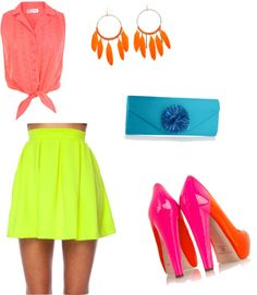 Bright Summer Outfit, created by rachelm-1415 on Polyvore