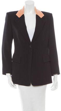 Hermès Wool Notched Collared Coat Collars, Blazer, Wool, Stylish, Jackets, Fashion, Down Jackets, Necklaces, Moda