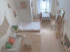 Room Design Bedroom, Small Room Bedroom, Room Ideas Bedroom, Home Room Design, Bedroom Decor, Korean Bedroom Ideas, Deco Studio, Study Room Decor, Minimalist Room