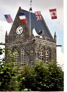 SAINTE MERE EGLISE, NORMANDY, FRANCE, The first village liberated during the D-Day Invasion on 6 June 1944.
