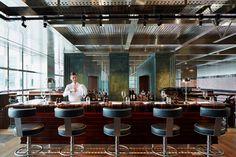 david collins studio / one canada square restaurant, canary wharf
