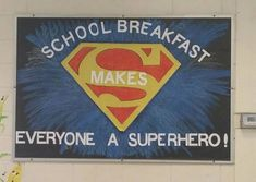 Great bulletin board from Brantley County, Georgia, School Nutrition, an integral part of the education process of all students in Brantley County. Cafe Bulletin Boards, Cafeteria Bulletin Boards, Superhero Bulletin Boards, Nutrition Bulletin Boards, Nurse Bulletin Board, Back To School Bulletin Boards, School Nurse Office, School Menu, School Lunches