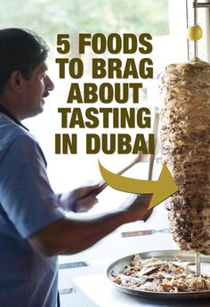 Want to try Arabic food in Dubai? Don't miss the shawarma.