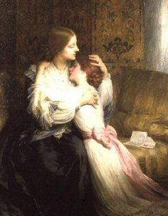 """The Mother"", 1907, by Sir Frank Dicksee (British, 1853-1928)"