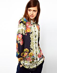ASOS Shirt With Baroque Placement Print | $40 | I love the print, but I'm not sure how I feel about the shirt itself..