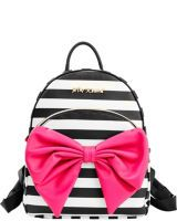 BOW TAILS BACKPACK -     This Betsey Johnson backpack is too cool for (just) school! Crafted in faux leather with adjustable straps, it easily stores essentials fo