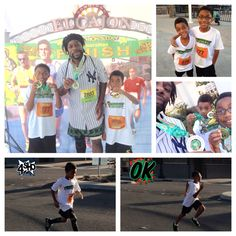 "#MedalMonday at the 2015 #StPatricksDay #HalfMarathon/#5k/Kids #GreenMile...the ""Boys"" did the Mile then walked the 5k w/ Daddy!"