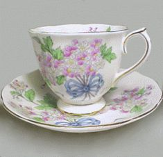 Royal Albert China Series -Flower of the Month Series - Ribbons and Bows-hawthorne