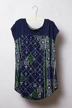 Pattern Drop Tee #anthropologie; another refashion idea from anthropologie