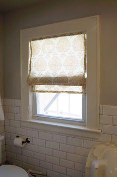 The Eagles Nest: Bathroom Roman Shade DIY
