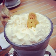 Costa coffee! Amazing! Loved my Gingerbread Man ;)