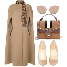 A fashion look from January 2018 by cecycecy-cccxx featuring Agnona, Christian Louboutin y Yves Saint Laurent Work Fashion, Trendy Fashion, Winter Fashion, Fashion Looks, Womens Fashion, Fashion Trends, Office Fashion, Classy Outfits, Stylish Outfits