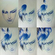 Here's a cool #stepbystep #photogrid by @leahtheartist of some of her #pencil #drawings! Drawn with Primsacolor pencils this #illustration is really great even if it is just he random guy from Leah's imagination  #CreativeAirship
