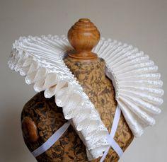 LAST ONE Tudor Elizabethan Ivory satin and by RenaissanceAttic