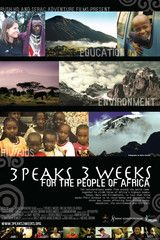 $29.95 3 Peaks 3 Weeks: For the people of Africa film (DVD)    A team of 10 women from Australia and the USA come together to attempt to climb three of Africa's highest peaks in less than three weeks. By challenging themselves to climb Mt Kenya (5,199m), Mt Meru (4,666m), and Mt Kilimanjaro (5,893m) they hope to raise money and awareness for three key issues affecting East Africa: education, conservation and HIV/AIDS.