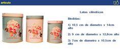 Latas Cilíndricas, Set De Tres Unidades Moderno Bazar - $ 144,70 en MercadoLibre