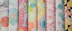 Fabric8 final collection by Kayajoy: Flight Patterns Cute young girl Fabrics