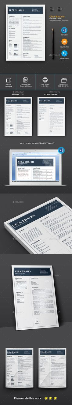 Objectives To Put On A Resume Pdf The Clean Cv  Resume  Template The Ojays And Words Good Sample Resume Excel with Sample Cosmetology Resume Word Resume Resume Examples For Bank Teller Word