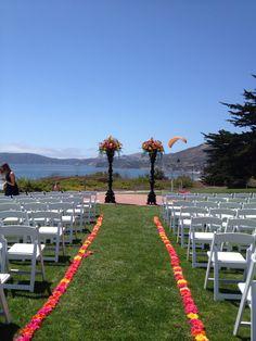 Cliffs Resort Wedding Urns filled with Gerbera Daisies
