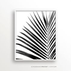 Digital Download Art// Palm leaf  Welcome to SCANDINAVIAN PRINT ART!  ★ Buy 2 - get 4 PRINTS! - Select 4 prints and use code BUY2GET4 at checkout to get 2 of them free! ★  Print out the art on your printer at home, or use a local or online printshop, and decorate your walls in the minimalistic style Scandinavia is known for. It is a unique, beautiful, easy, quick and budget friendly way of decorating your walls.  YOU WILL RECEIVE 5 DIGITAL FILES:  1) JPG - 8x10 (20,3 x 25,4 cm) 2) JPG…