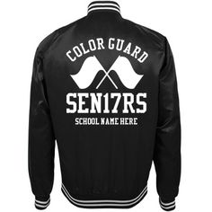 Go Seniors 17! Get all the seniors on the color guard squad trendy bomber…