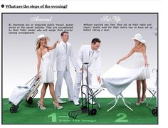 Instructions on how to have a dinner party, from the Le Diner en Blanc website White Dinner, Pop Up Dinner, Secret Location, All White Party, Dinner Themes, Dinner Outfits, Le Diner, Al Fresco Dining, Secret Places