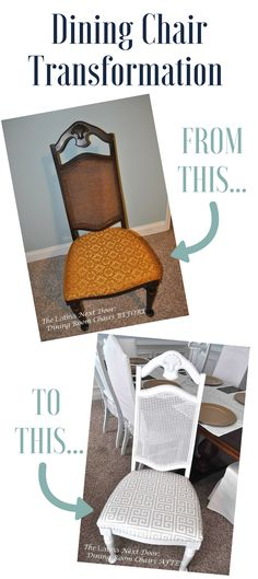 Dining chairs, Dining chair makeover and Chairs on Pinterest