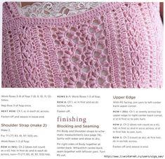 Crochetpedia: Crochet Top written pattern with symbol patterns in English