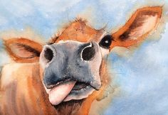 ARTFINDER: Gertie by Jill Griffin - Gertie s a fine cheeky lass and I have loved painting her. Cows have such  funny faces and are curious creatures but Gerties rudeness expression just makes m...
