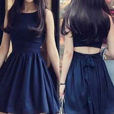 Short black two pieces unique simple tight popular teens homecoming prom dress,BD0021                                                                                                                                                                                 Más